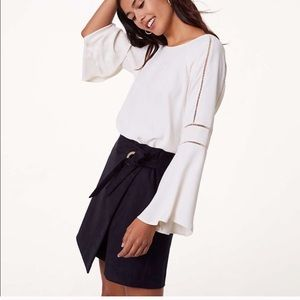 LOFT cutout bell sleeve blouse